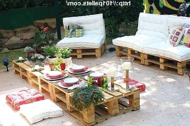 Мебель для саду своими руками фото
