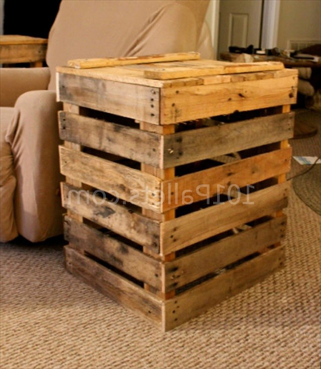 Hand Crafted Pallet Side Table Приставной столик своими руками