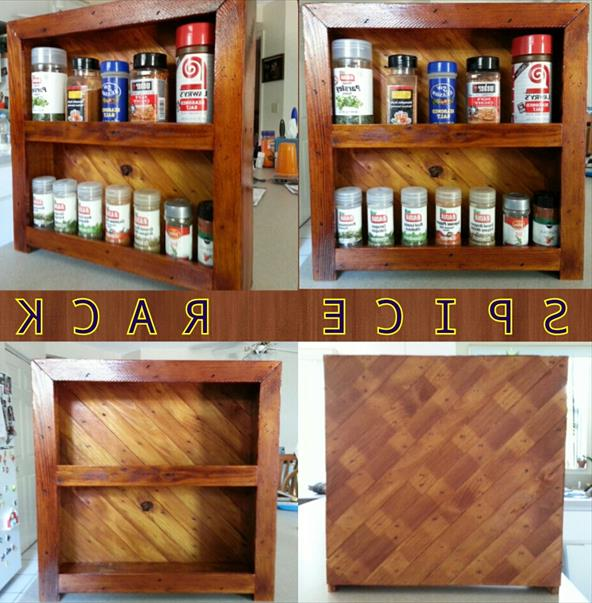 Полка для специй из поддонаecycled Pallet Spice Rack