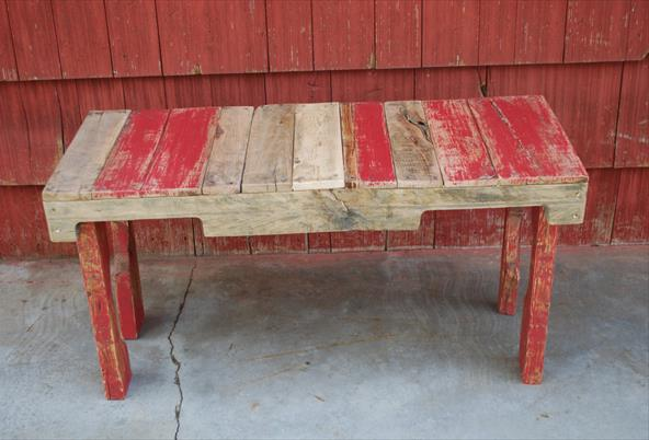 Upcycled Pallet Bench Скамейка из поддонов