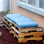Как сделать скамейку из паллет