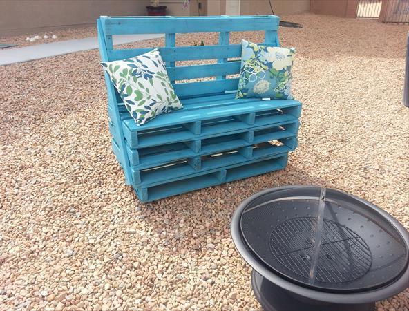 Изготовление скамейки из поддонов