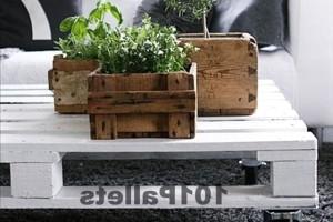 Ящик для цветов из поддонов