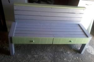 Скамья с ящиками из поддонов пошагово