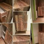Шкаф для хранения вещей из поддонов