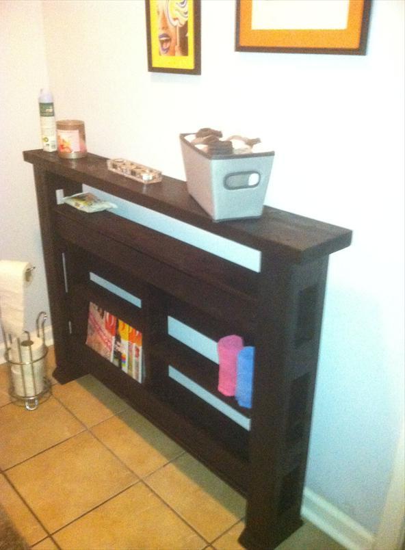 Консольный столик из поддонов