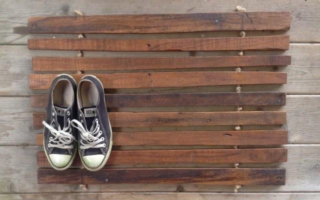 Деревянный коврик своими руками