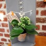 Современная полка для цветка из поддона