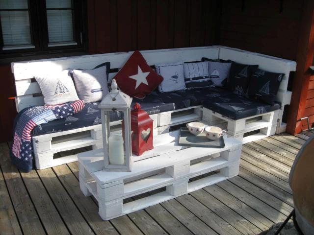 Мебель для терассы из поддонов