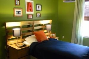 Изголовье для детской кровати из поддонов