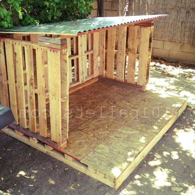 домик для детей из паллет
