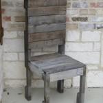 Идея создания стула из поддонов