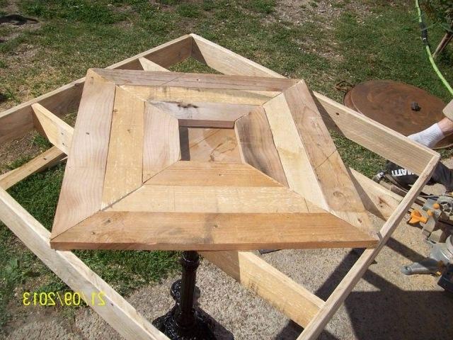 Руководство по изготовлению стола из поддонов пошагово