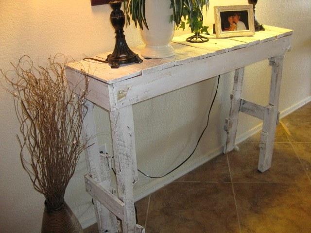 Проект стола из поддонов
