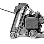 1927 год. настоящий дедушка современного вилочного складского погрузчика