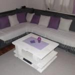 Белый столик для гостинной своими руками