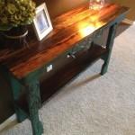 Приставной столик из поддонов своими руками