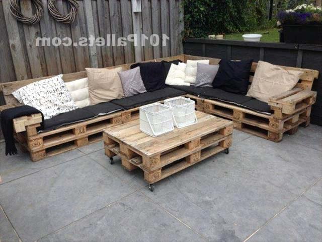 Мебель для террассы из поддонов
